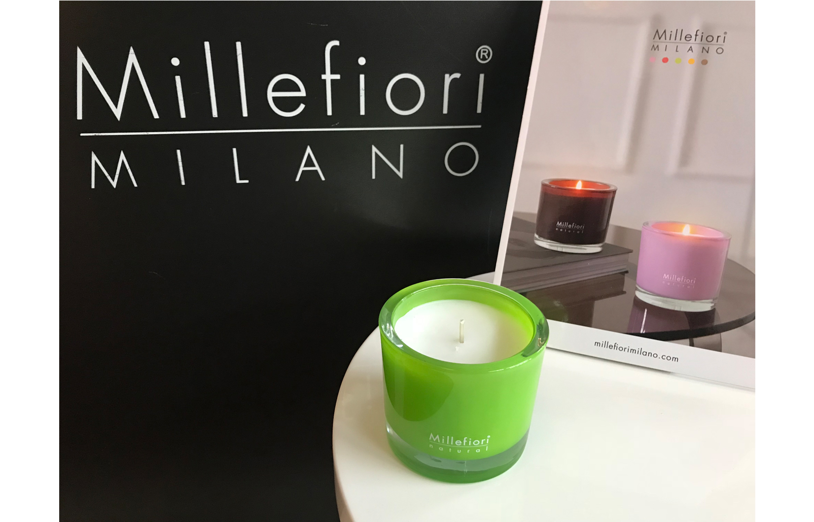 Millefiori candle BIG Green fig & iris