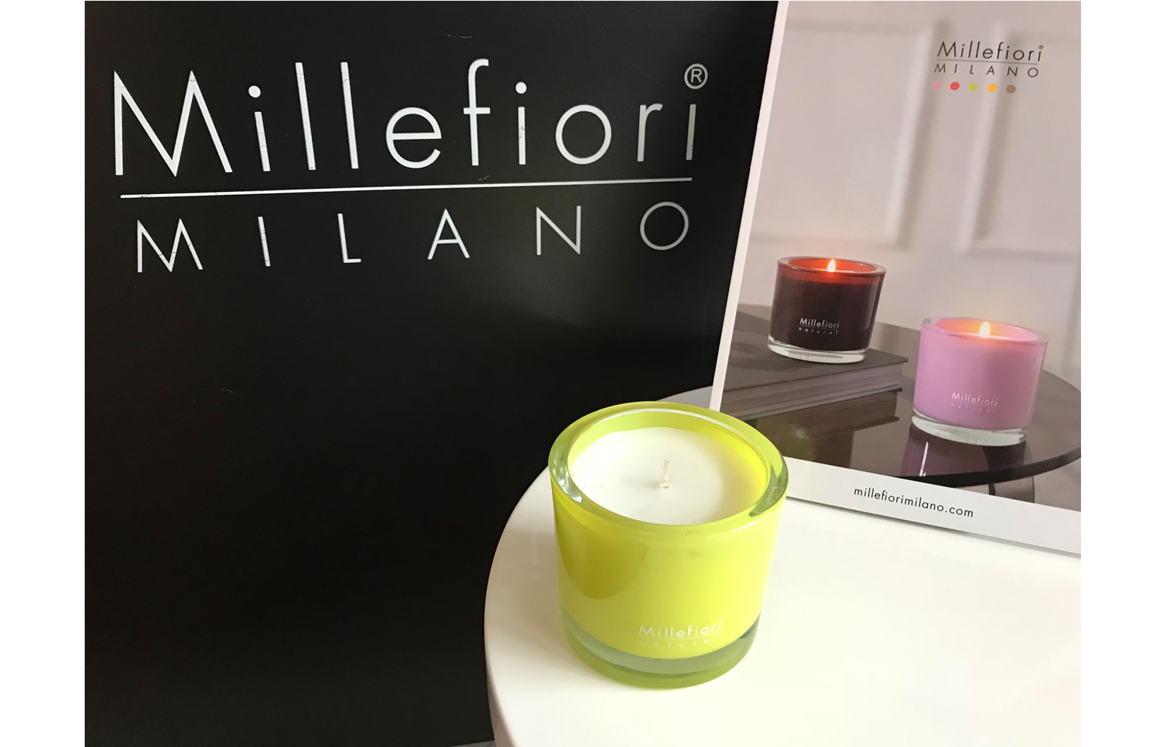 Millefiori candle BIG Lemon grass