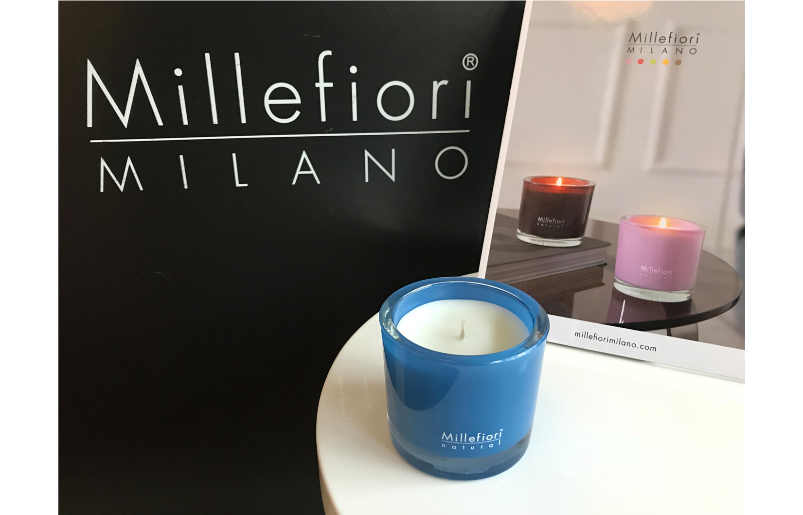 Millefiori candle BIG cold water
