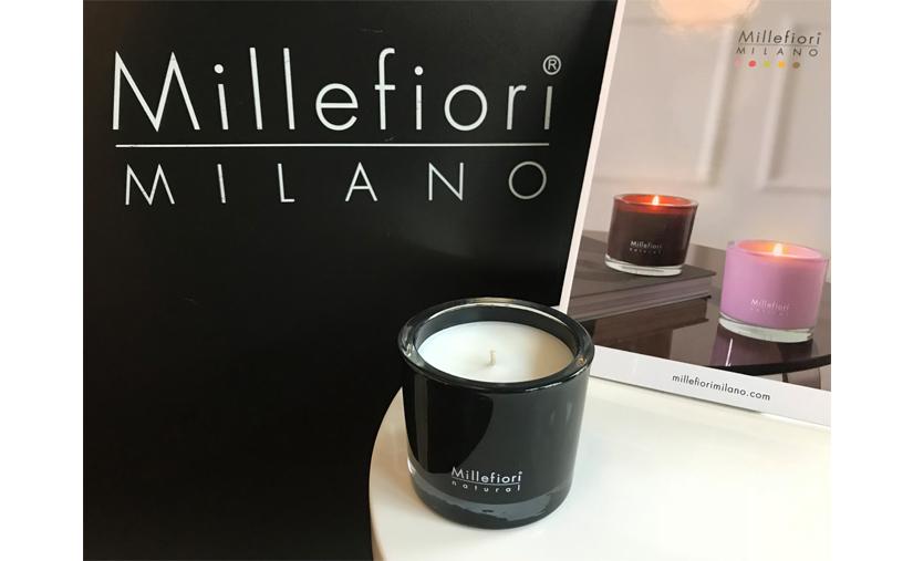 Millefiori candle SMALL Nero