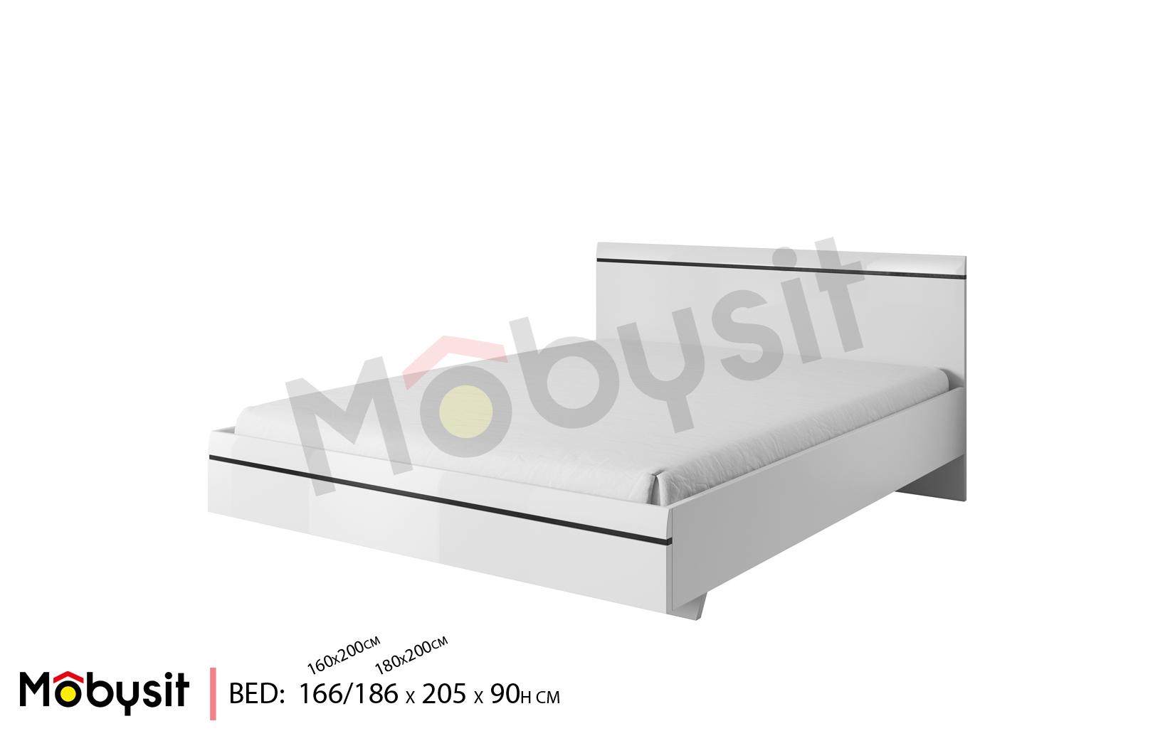 BIG Tulsa BR White Bed