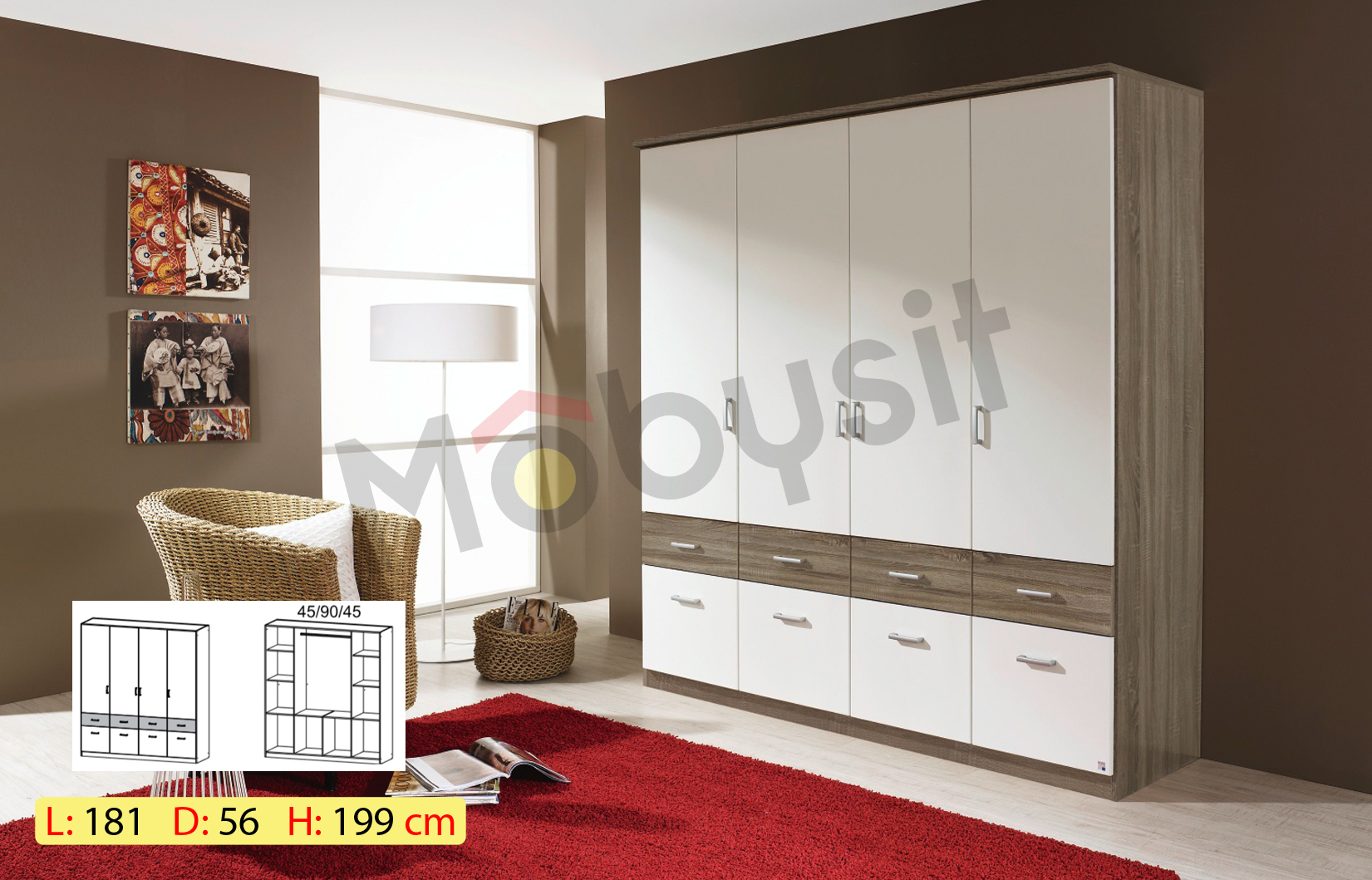 BIG BREMEN 4p havana oak white