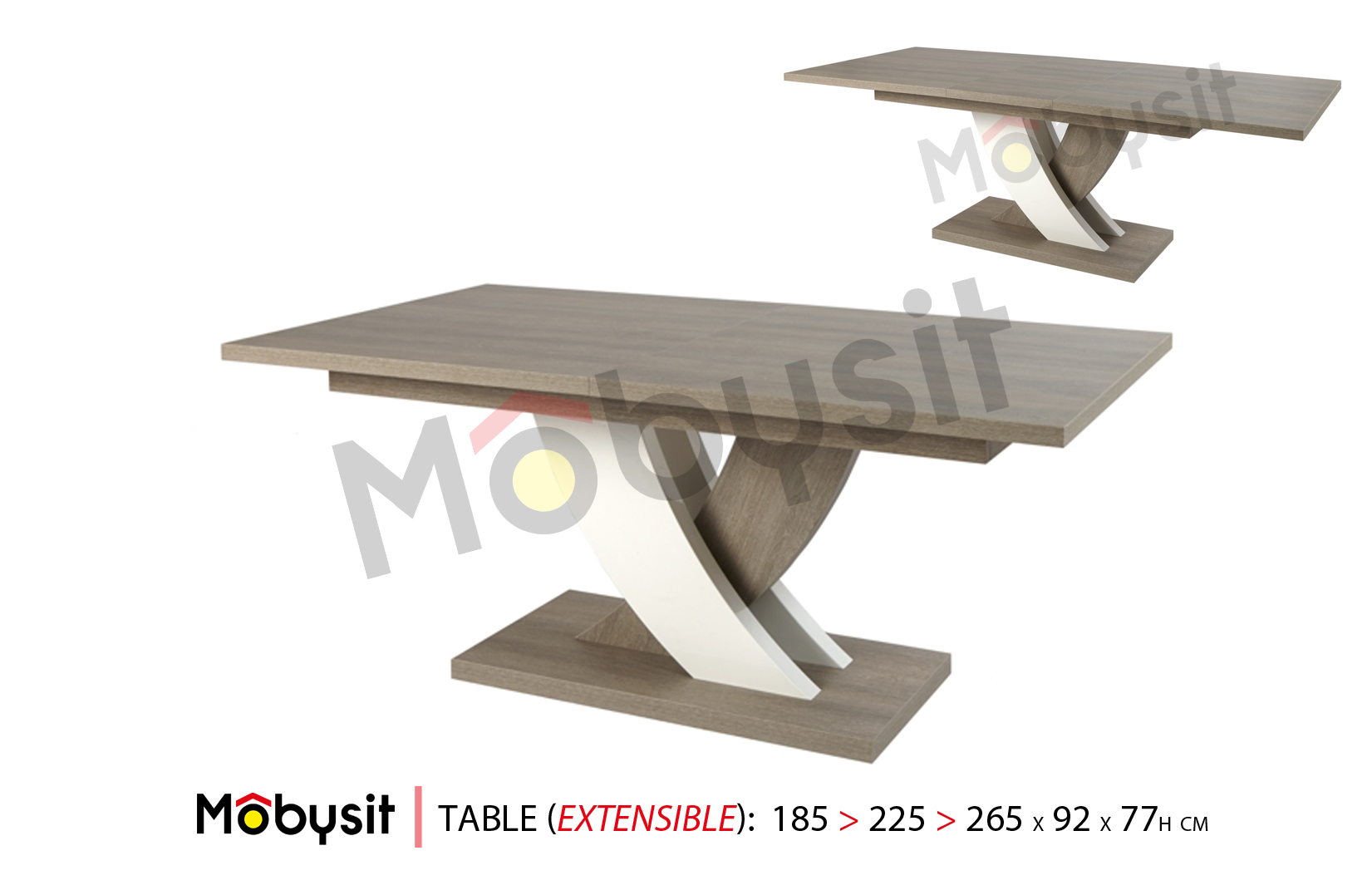 BIG Bauwens table extensible