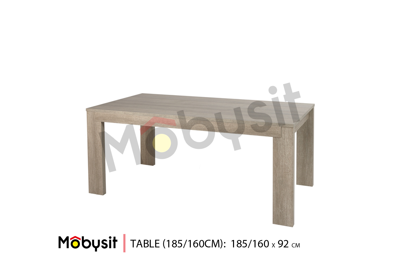 BIG Bauwens table fix 185-160