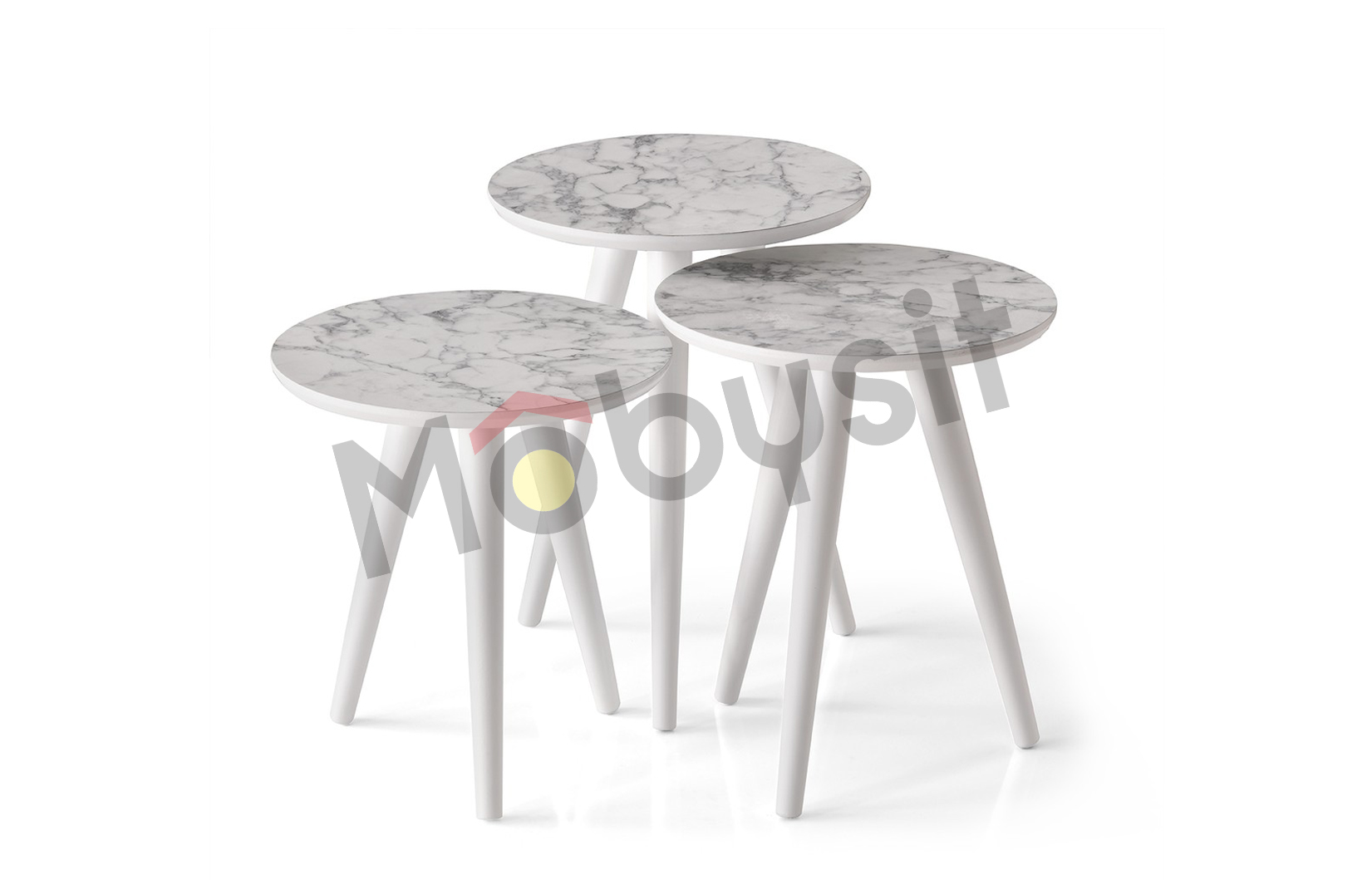BIG coffee table set 4043 white