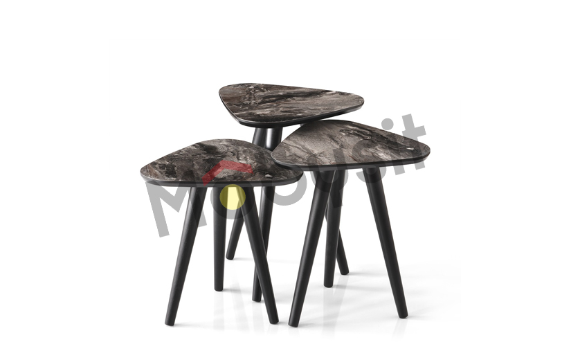 SMALL coffee table set 4024 black