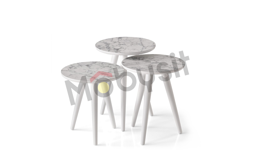 SMALL coffee table set 4043 white